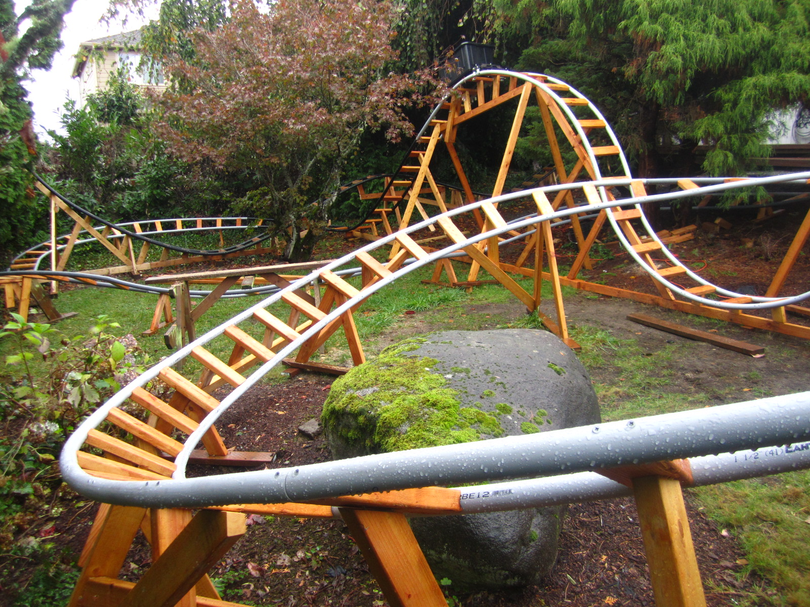 retired engineer built a roller coaster for his grandkids quizgriz